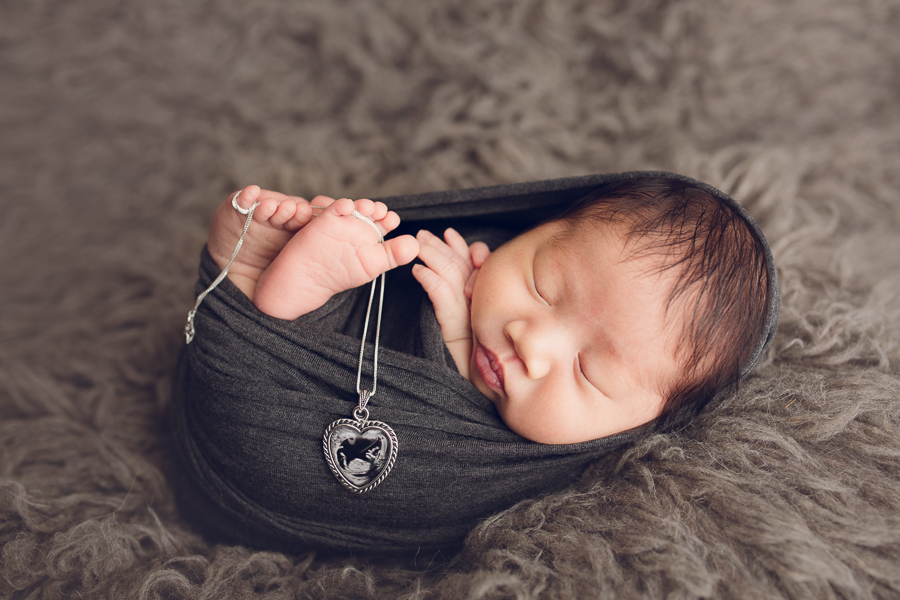 bay area infant photography baby boy in grey