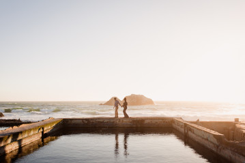 Maternity Photographer San Francisco Bay Area Sutro Baths Maternity Couple