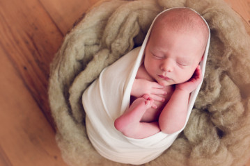 Newborn Photography Alameda wrapped up newborn boy