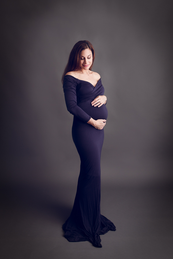 San Jose Maternity Photographer pregnant woman in beautiful maternity dress