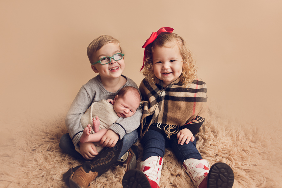Infant Photographer Livermore with all three children